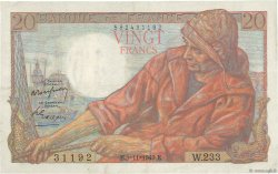 20 Francs PÊCHEUR FRANCE  1949 F.13.16 TTB+