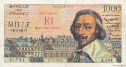 10 NF sur 1000 Francs RICHELIEU FRANCE  1957 F.53.01 TTB+
