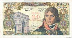 100 NF sur 10000 Francs BONAPARTE FRANCE  1958 F.55.01 TB