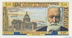 5 Nouveaux Francs VICTOR HUGO FRANCE  1959 F.56.04 SUP