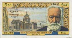 5 Nouveaux Francs VICTOR HUGO FRANCE  1961 F.56.07 pr.SPL