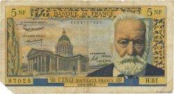 5 Nouveaux Francs VICTOR HUGO FRANCE  1961 F.56.07 B