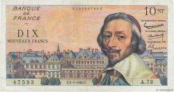 10 Nouveaux Francs RICHELIEU FRANCE  1960 F.57.07 TTB