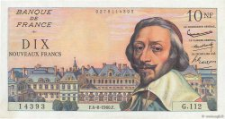 10 Nouveaux Francs RICHELIEU FRANCE  1960 F.57.09 SPL+