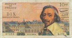 10 Nouveaux Francs RICHELIEU FRANCE  1961 F.57.14 B+