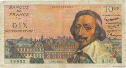 10 Nouveaux Francs RICHELIEU FRANCE  1961 F.57.16 B