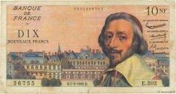 10 Nouveaux Francs RICHELIEU FRANCE  1962 F.57.17 B+