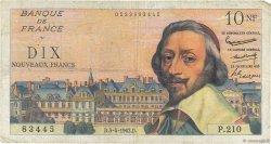 10 Nouveaux Francs RICHELIEU FRANCE  1962 F.57.18 B+