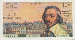 10 Nouveaux Francs RICHELIEU FRANCE  1962 F.57.19 TTB