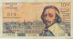 10 Nouveaux Francs RICHELIEU FRANCE  1962 F.57.20 B+