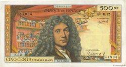 500 Nouveaux Francs MOLIÈRE FRANCE  1963 F.60.05 pr.TTB
