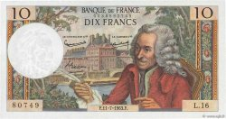 10 Francs VOLTAIRE FRANCE  1963 F.62.03 pr.NEUF