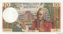 10 Francs VOLTAIRE FRANCE  1964 F.62.09 SUP+