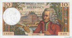 10 Francs VOLTAIRE FRANCE  1966 F.62.23 SUP+