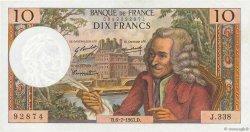10 Francs VOLTAIRE FRANCE  1967 F.62.27