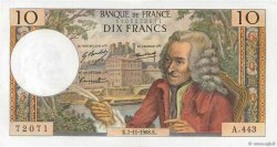 10 Francs VOLTAIRE FRANCE  1968 F.62.35 SPL