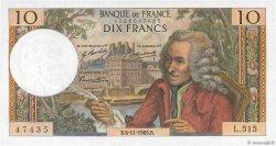 10 Francs VOLTAIRE FRANCE  1969 F.62.40 SPL