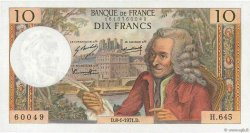 10 Francs VOLTAIRE FRANCE  1971 F.62.48 SUP+