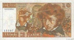 10 Francs BERLIOZ FRANCE  1973 F.63.02 TTB