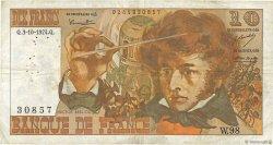 10 Francs BERLIOZ FRANCE  1974 F.63.07a TB