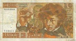 10 Francs BERLIOZ FRANCE  1974 F.63.07b TB