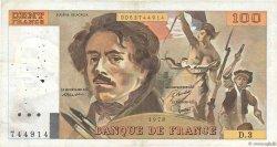 100 Francs DELACROIX FRANCE  1978 F.68.03 TB+