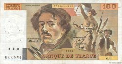 100 Francs DELACROIX FRANCE  1978 F.68.03 pr.TTB