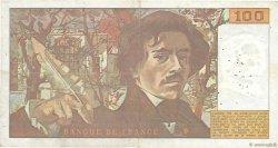 100 Francs DELACROIX modifié FRANCE  1978 F.69.01a TB+