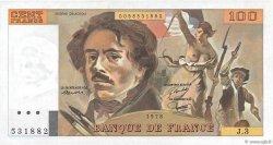 100 Francs DELACROIX FRANCE  1978 F.68.03 NEUF