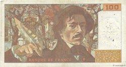100 Francs DELACROIX modifié FRANCE  1978 F.69.01b B