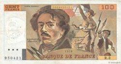 100 Francs DELACROIX modifié FRANCE  1978 F.69.01b TTB