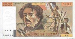 100 Francs DELACROIX modifié FRANCE  1978 F.69.01c NEUF