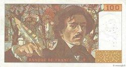 100 Francs DELACROIX modifié FRANCE  1978 F.69.01c TTB