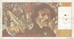 100 Francs DELACROIX modifié FRANCE  1978 F.69.01d TB