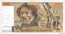 100 Francs DELACROIX modifié FRANCE  1978 F.69.01d TTB+