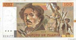 100 Francs DELACROIX modifié FRANCE  1979 F.69.02b TTB+