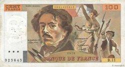 100 Francs DELACROIX modifié FRANCE  1979 F.69.02c TB