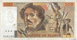 100 Francs DELACROIX modifié FRANCE  1979 F.69.02c B