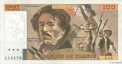 100 Francs DELACROIX modifié FRANCE  1979 F.69.02c TTB