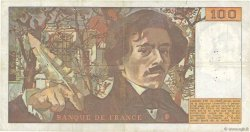 100 Francs DELACROIX modifié FRANCE  1979 F.69.02c pr.TTB