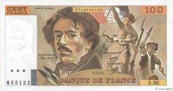 100 Francs DELACROIX modifié FRANCE  1980 F.69.04a TTB+