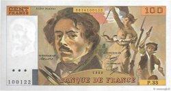 100 Francs DELACROIX modifié FRANCE  1980 F.69.04a