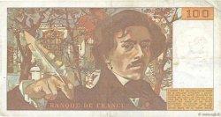 100 Francs DELACROIX modifié FRANCE  1980 F.69.04b TB