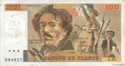 100 Francs DELACROIX modifié FRANCE  1980 F.69.04b TB+