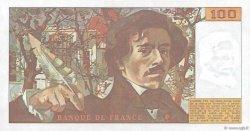 100 Francs DELACROIX modifié FRANCE  1980 F.69.04b SPL