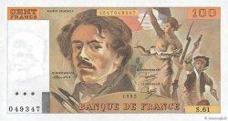 100 Francs DELACROIX modifié FRANCE  1982 F.69.06 NEUF