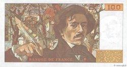 100 Francs DELACROIX modifié FRANCE  1982 F.69.06 SUP