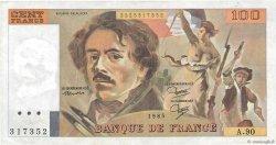 100 Francs DELACROIX modifié FRANCE  1985 F.69.09