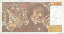 100 Francs DELACROIX modifié FRANCE  1987 F.69.11 TTB