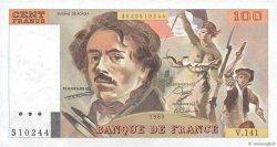 100 Francs DELACROIX modifié FRANCE  1989 F.69.13b SPL